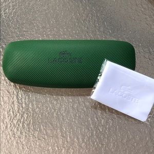 Lacoste eyeglass case clamshell for protection